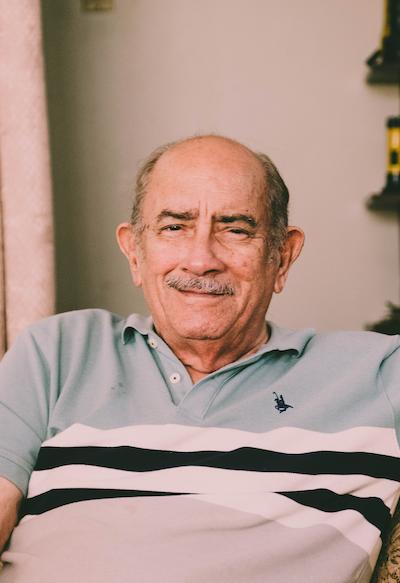 senior man living in elderly care facilities