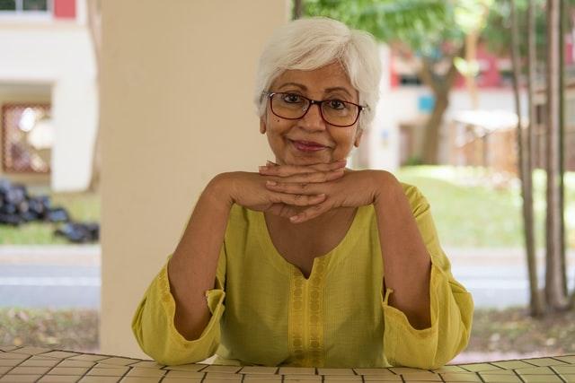 Elderly Woman Posing